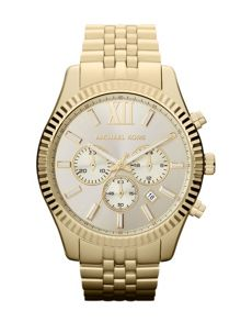 MK8281 Lexington Gold Mens Bracelet Watch