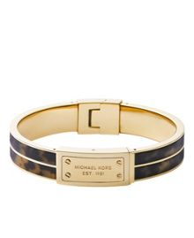 Heritage Gold and Tort Plaque Bangle