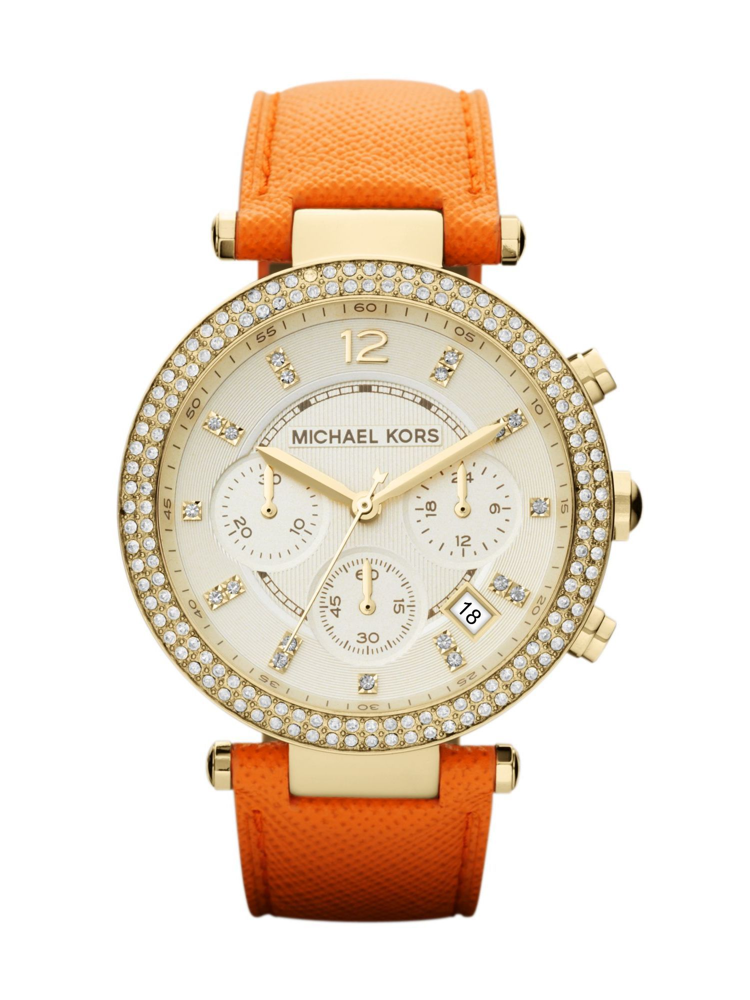 MK2279 Orange leather ladies watch
