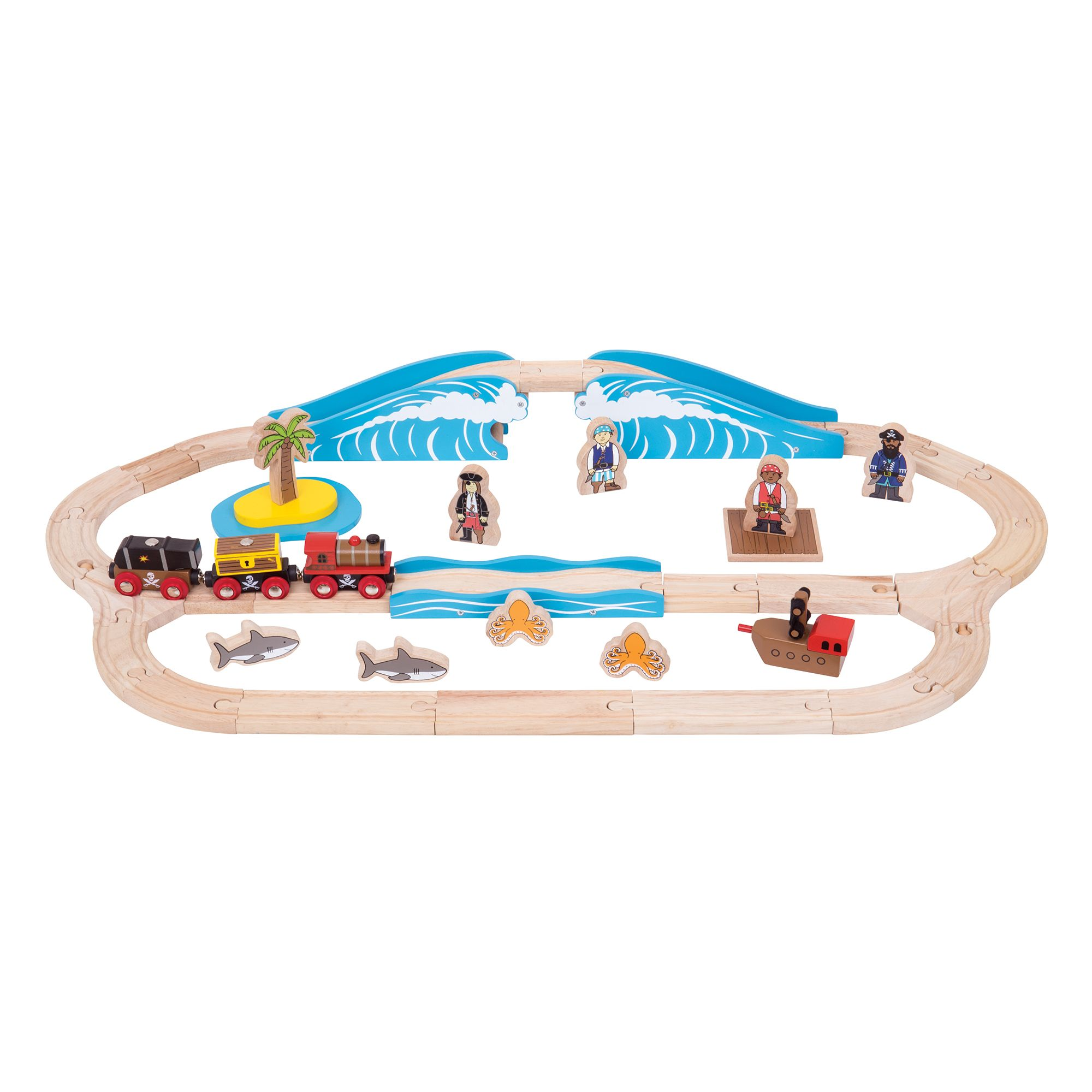 Bigjigs Rail Pirate Train Set