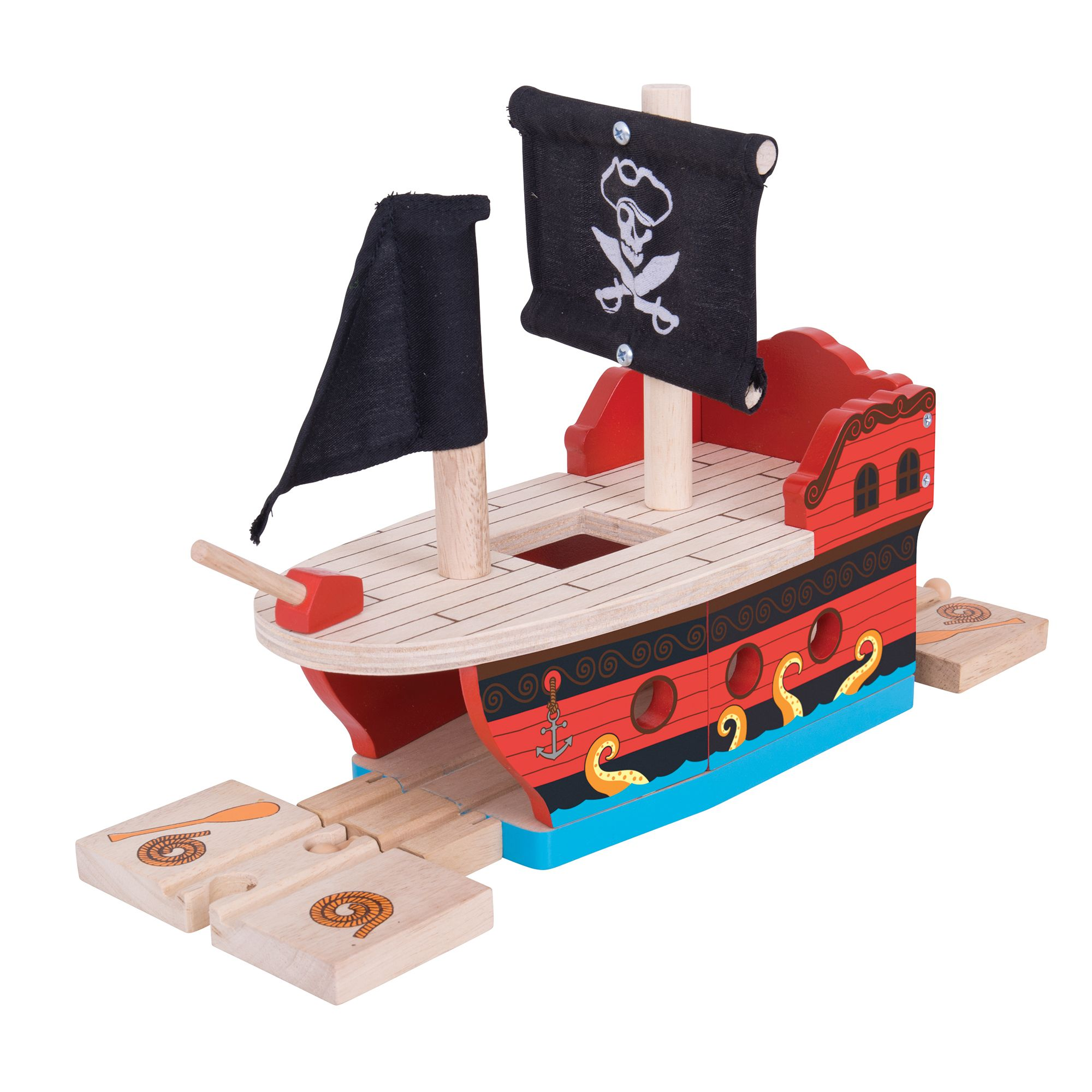 Bigjigs Rail Pirate Galleon