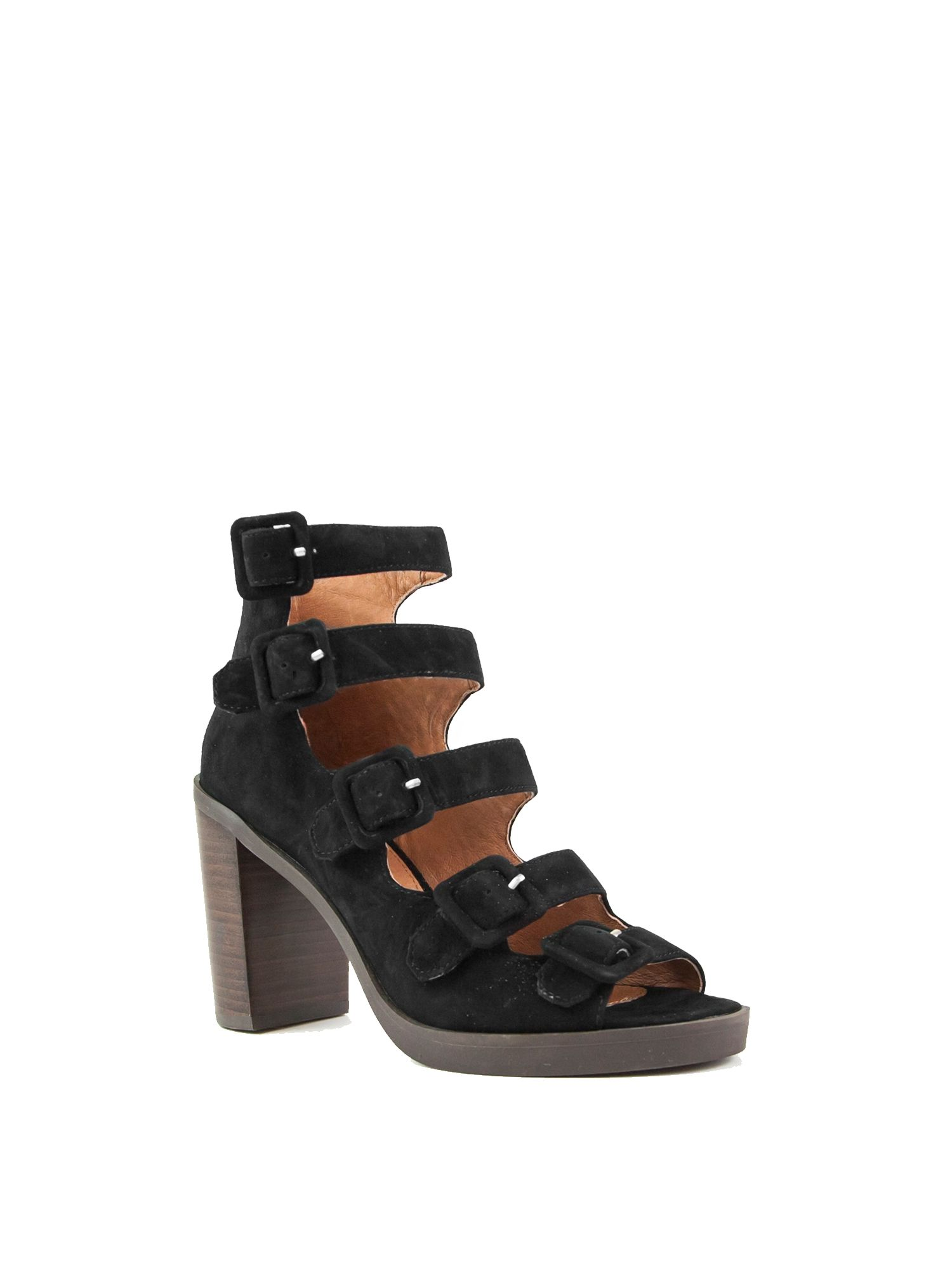 Shellys London Debden multi-strap chunky sandals, Black