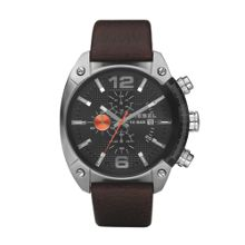 DZ4204 Overflow brown leather men`s watch