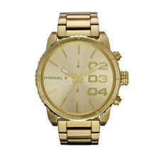Diesel Dz4268 double down mens gold bracelet watch