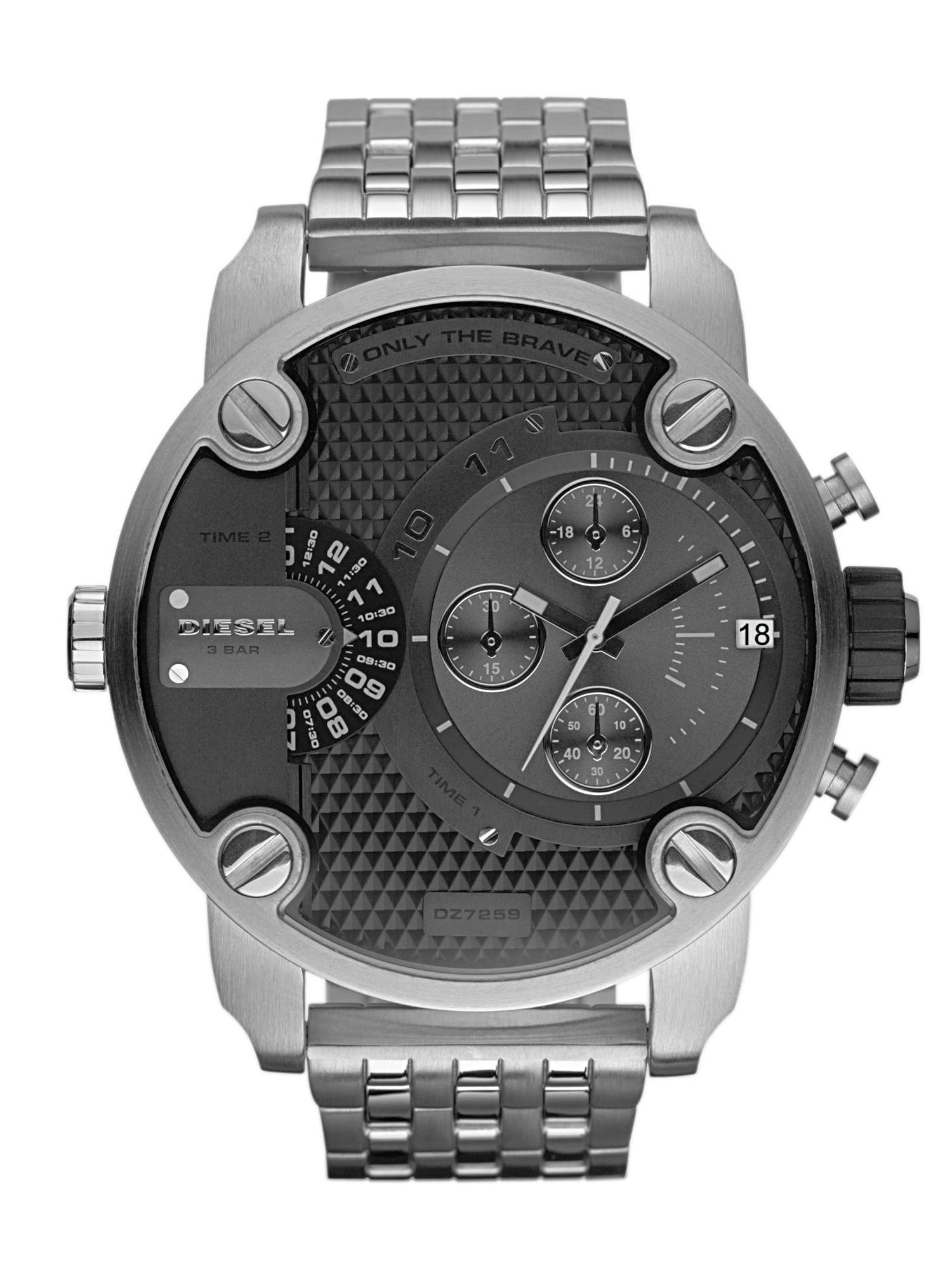 DZ7259 Little Daddy Silver Mens Bracelet Watch