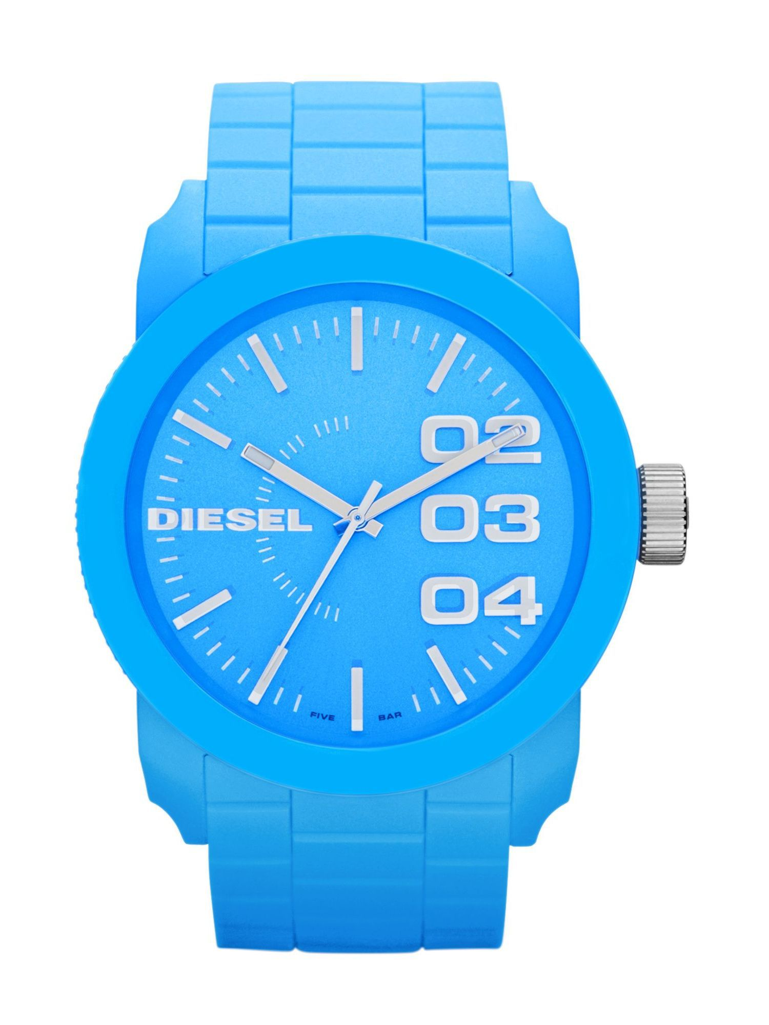 DZ1571 Blue Silicone Unisex Watch