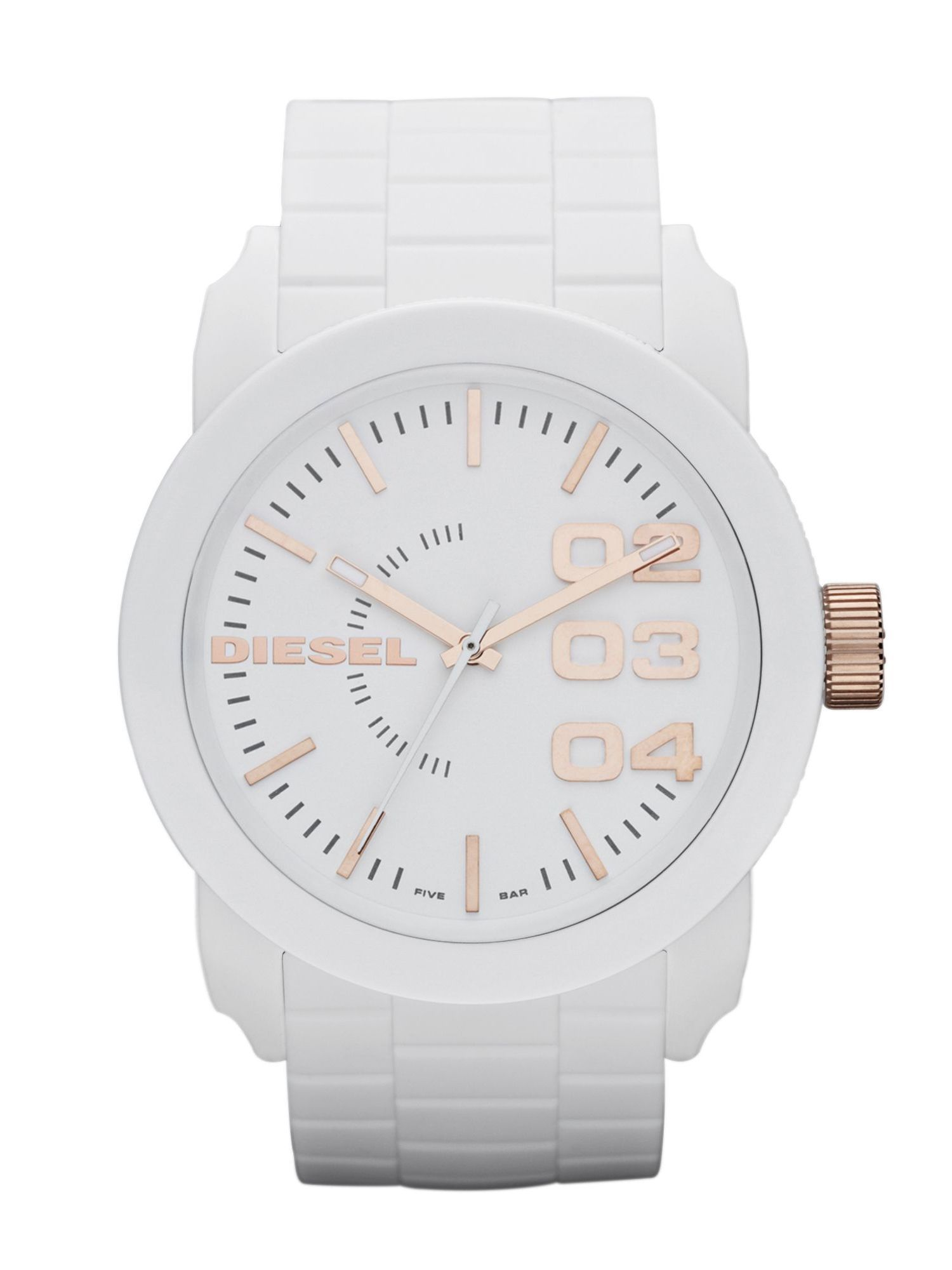 DZ1572 Double down white silicone unisex watch