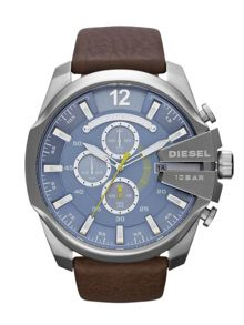 Diesel DZ4281 Mega chief brown leather men`s watch
