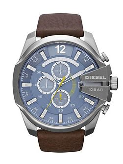 DZ4281 Mega chief brown leather men`s watch
