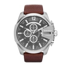 Diesel DZ4290 Mega chief brown leather mens watch