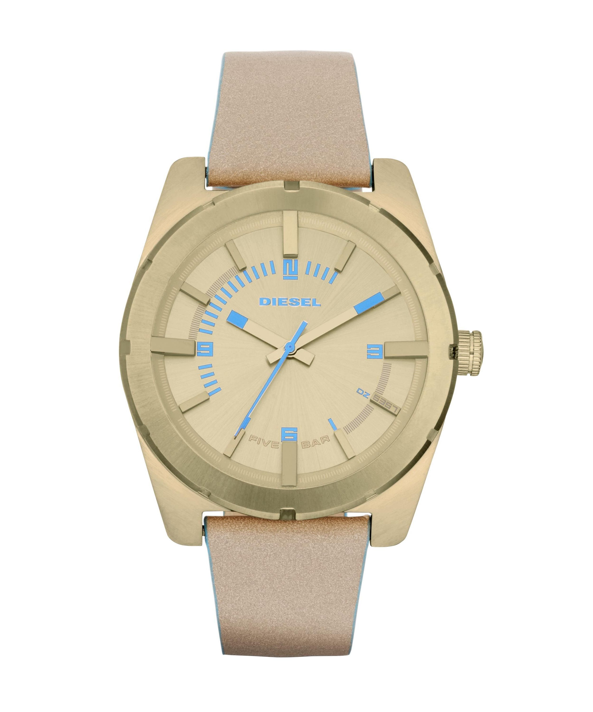 DZ5357 Nude leather ladies watch