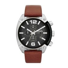 DZ4296 Overflow brown leather mens watch