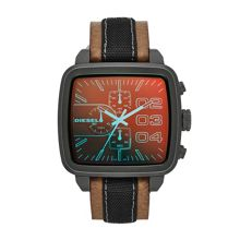 DZ4303 ADVANCED brown leather mens watch