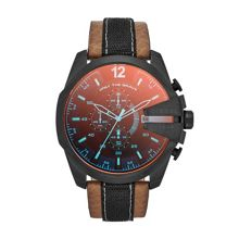 DZ4305 Mega chief brown leather mens watch