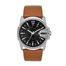 DZ1617 Master chief tan leather mens watch
