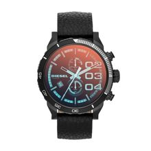 DZ4311 Franchise black leather mens watch