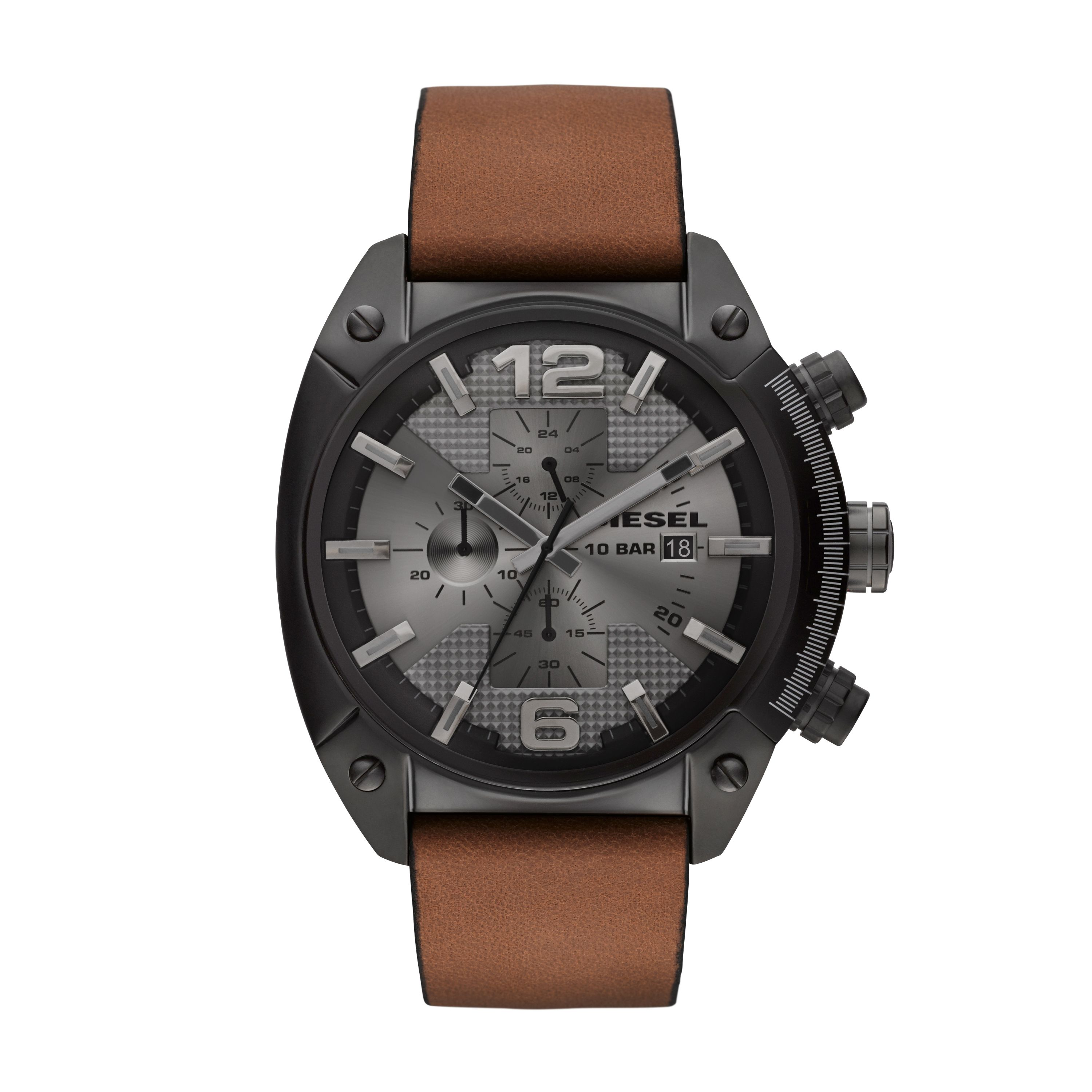 DZ4317 ADVANCED brown leather mens watch