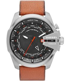DZ4321 Chief Gents Brown Leather Strap Watch