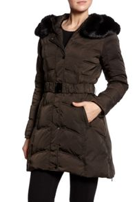 Dawn Levy Down jacket with detachable faux fur hood