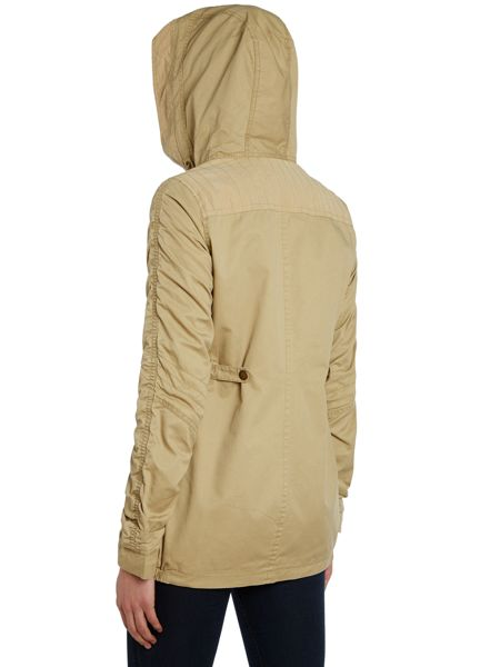 Halifax Traders gathered sleeved Jacket with drawcord hood