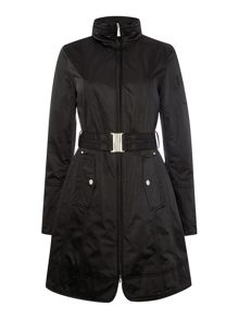 Dawn Levy Satin belted Coat