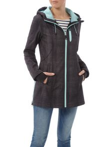 Halifax Traders Hooded softshell long length jacket
