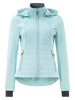 Hooded Softshell Quilted Jacket