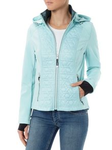 Halifax Traders Hooded Softshell Quilted Jacket