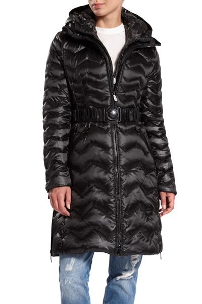 Dawn Levy Quilted down hooded jacket
