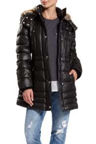 Halifax Traders Quilted Jacket with Faux Fur Inside Hood