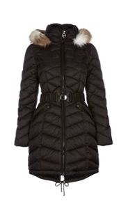 Dawn Levy Hooded Jacket with Belted Waistband