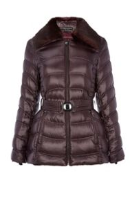 Dawn Levy Detachable faux fur collar jacket
