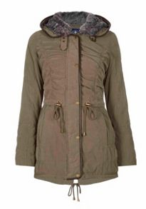 Halifax Traders Hooded jacket with faux fur hood liner
