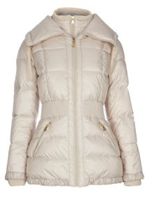Quilted jacket with oversized collar