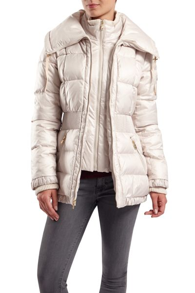 Halifax Traders Quilted jacket with oversized collar