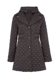 Dawn Levy hooded jacket with zip and buttons