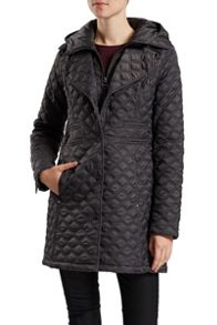hooded jacket with zip and buttons