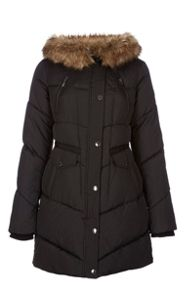 Halifax Traders Qulited hooded jacket with faux fur