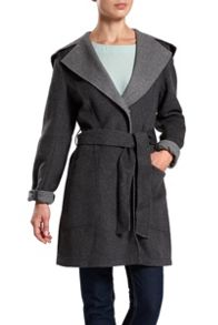 Dawn Levy Woolen hooden wrap jacket