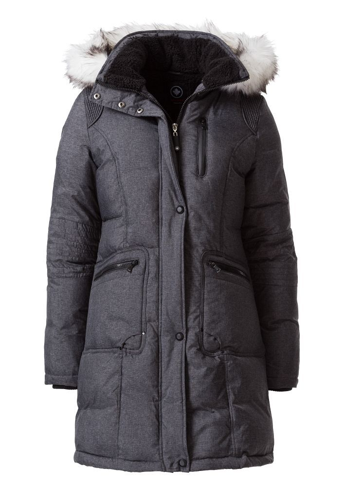 Halifax Traders Halifax Traders Quilted jacket with faux fur hood, Grey