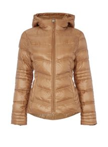 Dawn Levy Down hooded zip jacket