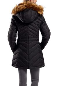 Dawn Levy Down hooded jacket with drawstring waist