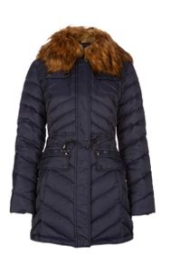 Dawn Levy Faux Fur Collar Jacker with Pockets
