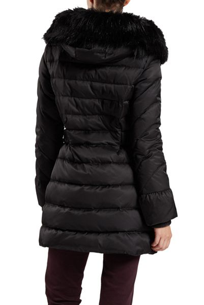 Dawn Levy Belted Detachable Hood Jacket