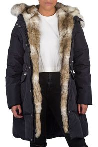 Dawn Levy Down jacket with faux fur hood
