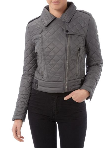 Halifax Traders Quilted nylon biker jacket
