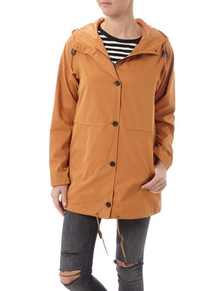 Halifax Traders 3/4 length hooded jacket with buttons