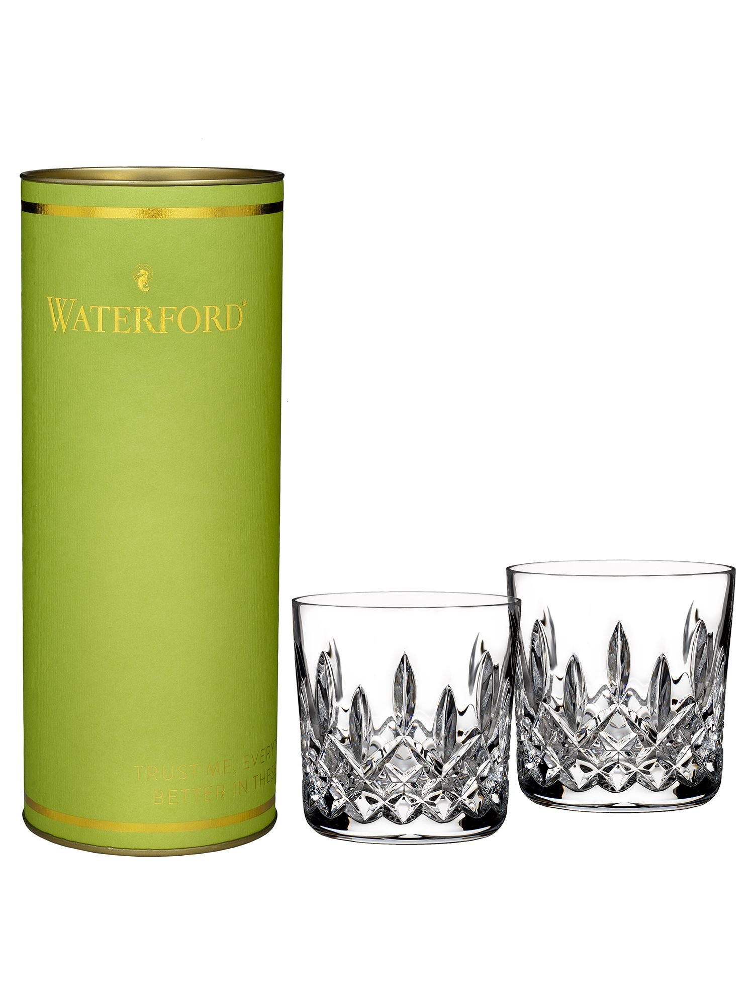 Giftology lismore set of 2 tumblers in lime prese