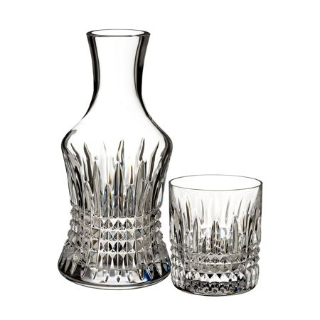 Waterford Lismore bedside carafe with small glass