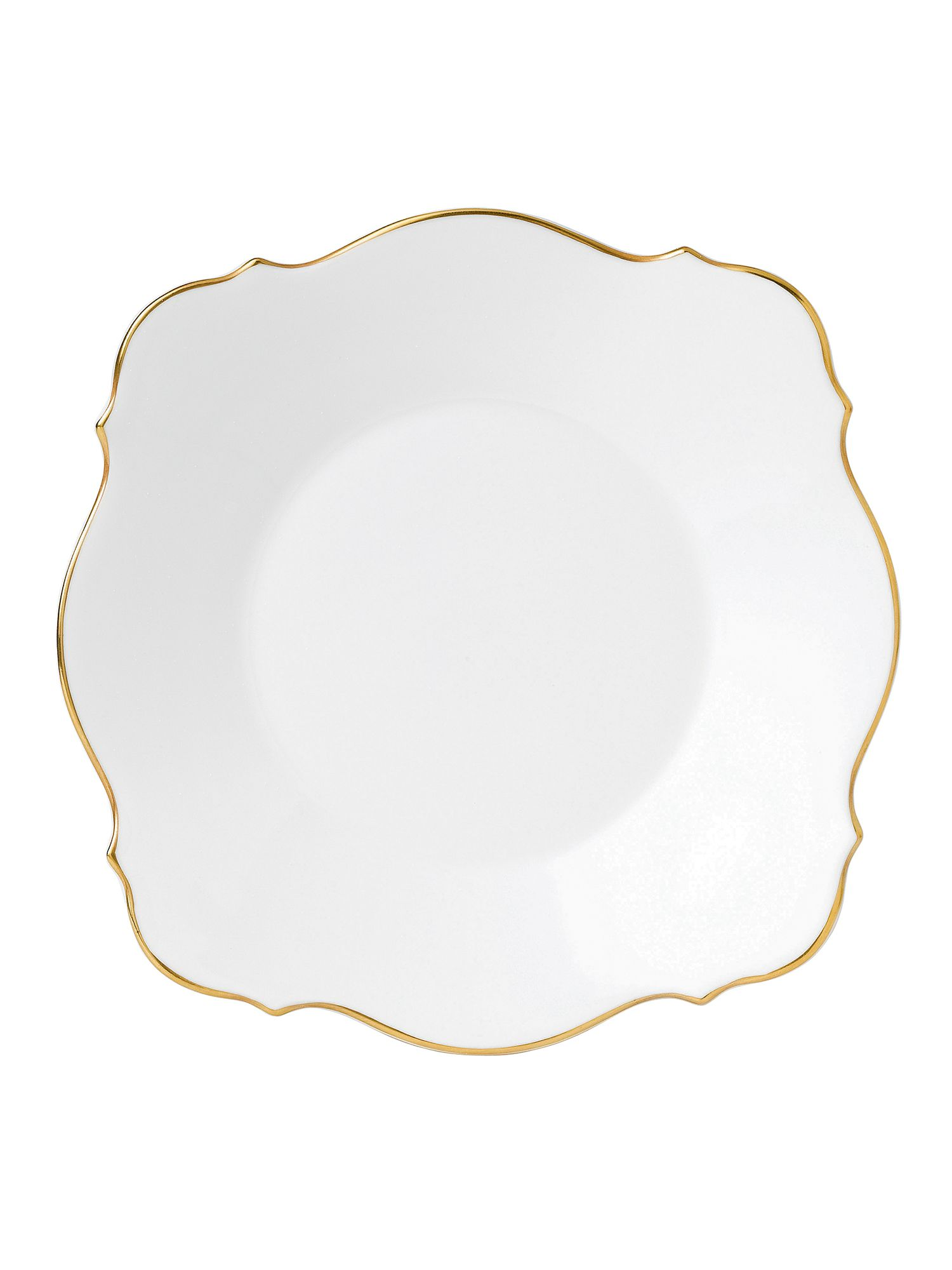 Jasper conran bone china gold tipped baroque plat